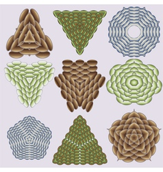 Patterns from snake and dragon scales vector image