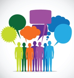 People Colorful Speech Bubbles - vector image vector image