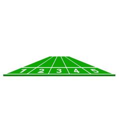 running track in green design vector image
