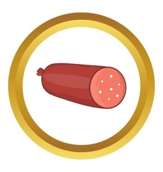 Salami sausage icon vector