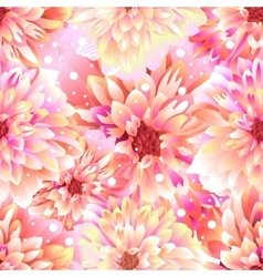 Seamless floral background Dahlia vector image vector image