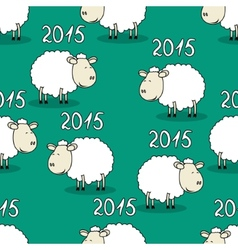 Seamless pattern of funny sheep vector image vector image