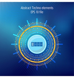 Tecnhology elements on dark blue background vector