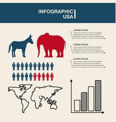Usa political parties infograhic vector