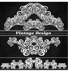Vintage design elements on a grunge background vector image