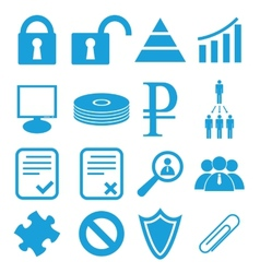Webdesign symbols set vector