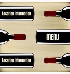 Wine Menu vector image vector image