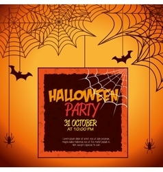 Poster halloween party design isolated vector