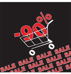 Big sale 90 percentage discount vector