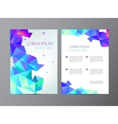 Abstract modern flyer vector image