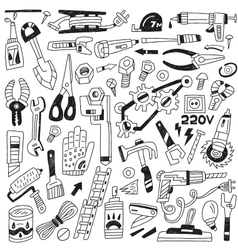 Work tools - doodles vector
