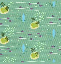 Vintage hawaii seamless pattern vector
