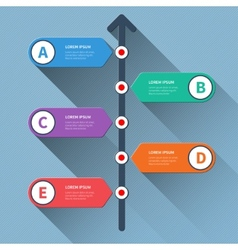 Timeline minimal arrow step styled infographics vector