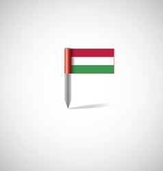 Hungary flag pin vector