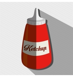 Sauce bottle design vector