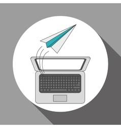 Laptop icon design vector
