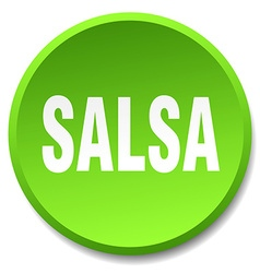 Salsa green round flat isolated push button vector