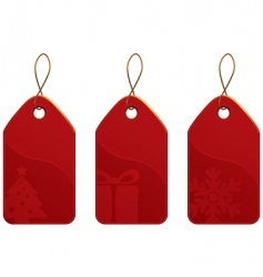 Christmas tag set vector image