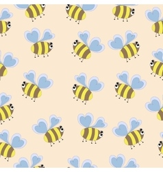 Delicate pattern bee vector