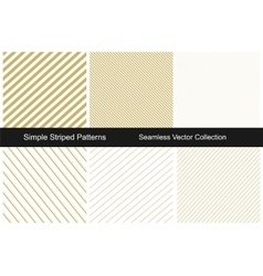Collection of gold striped backgrounds vector