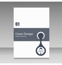 Brochure cover with abstract connect patterns vector