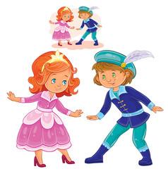A little boy and girl vector