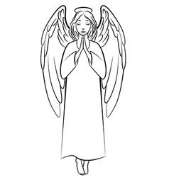 angel nimb vector image