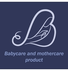 Babycare and mothercare products logo vector
