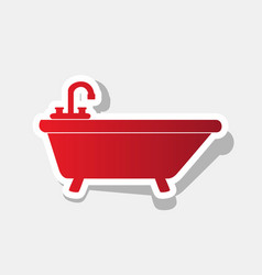 Bathtub sign new year vector