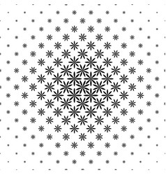 Black and white geometric pattern - abstract vector