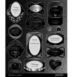 black gold labels vector image vector image