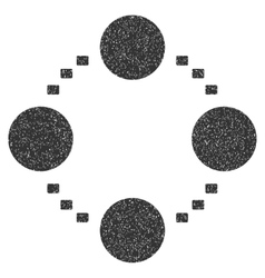 Circular Relations Grainy Texture Icon vector image