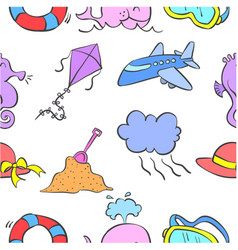 Collection stock of element holiday doodle vector