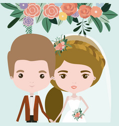 color background with half body couple of just vector image