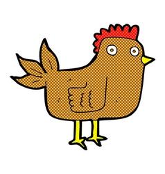 Comic cartoon hen vector