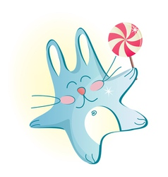 cute bunny vector image