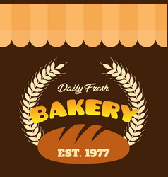 Daily fresh bakery est 1977 vector