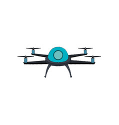 Drone technology flying isolated icon vector