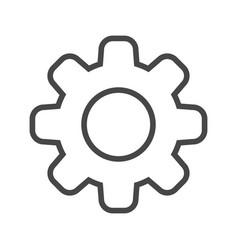 gear thin line icon vector image