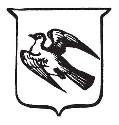 Heraldry volant have depicts a bird in flight vector