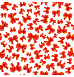 Holiday gift seamless pattern with red bow vector
