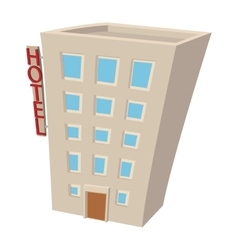Hotel building cartoon icon vector