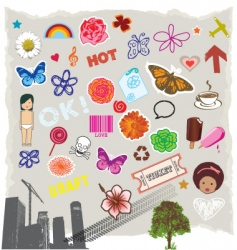 icons symbols vector image vector image