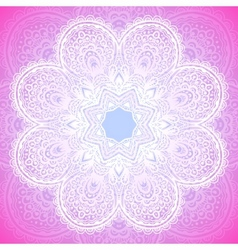 Indian ornament mandala in pink vector
