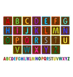 Letter Blocks vector image