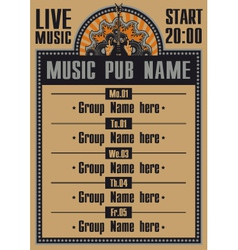 live music vector image vector image