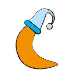 moon cute cartoon vector image vector image