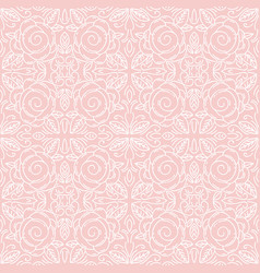 Pink floral seamless patterns ideal for printing vector