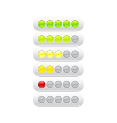 Progress bar from many color circles vector