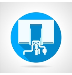 Round icon for water boiler vector image